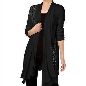 INC Black Studded Cardigan Sweater